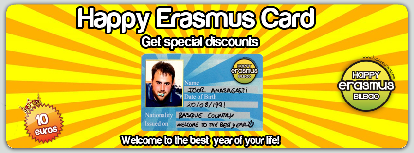 Happy Erasmus Bilbao Card