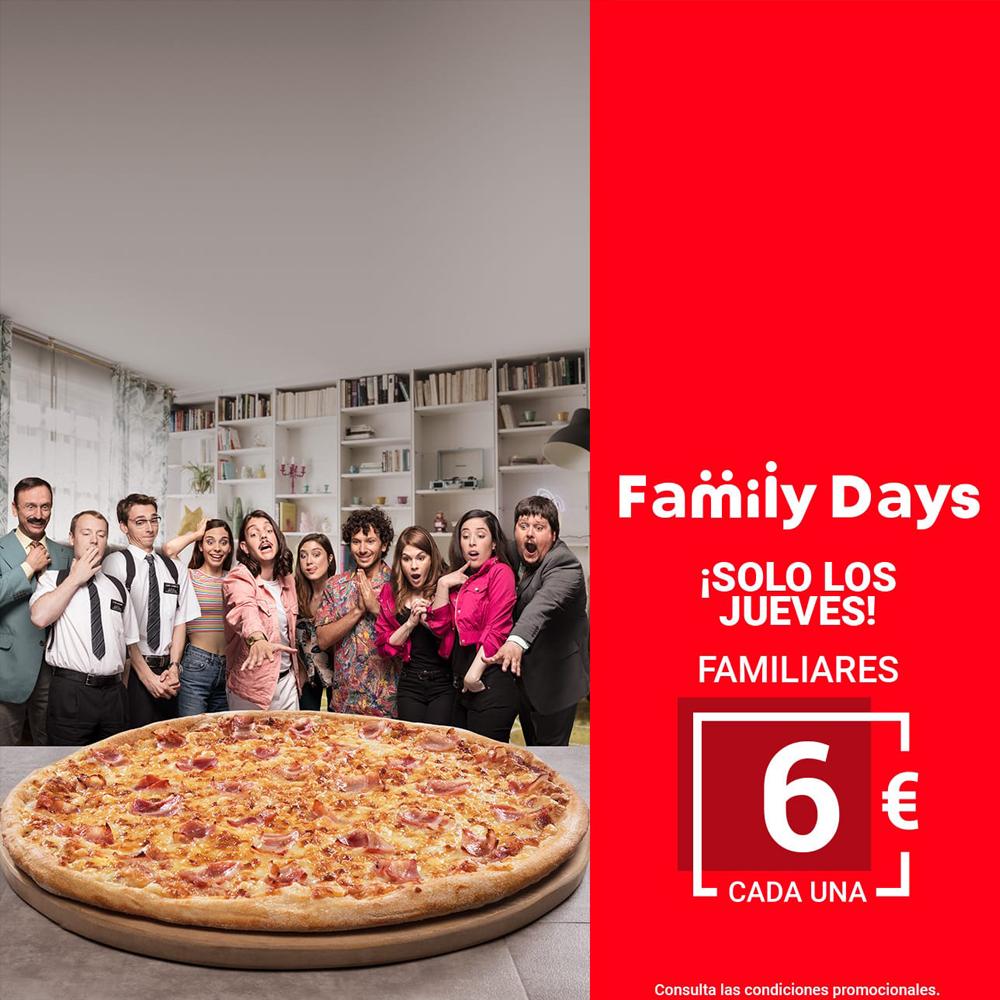 Telepizza Todos Los Jueves Familiares Por 6
